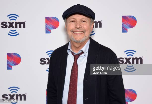 Billy Crystal Sits Down With SiriusXM Unmasked Host Ron Bennington at SiriusXM Hollywood Studios on February 19, 2020 in Los Angeles, California.