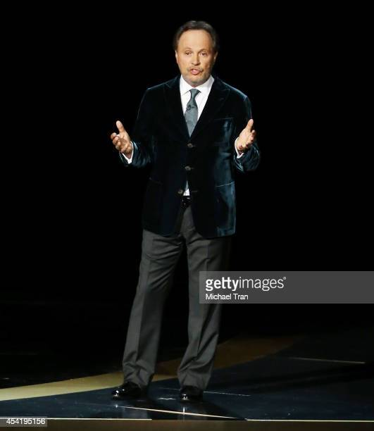 Billy Crystal speaks onstage during the 66th Annual Primetime Emmy Awards held at Nokia Theatre L.A. Live on August 25, 2014 in Los Angeles,...