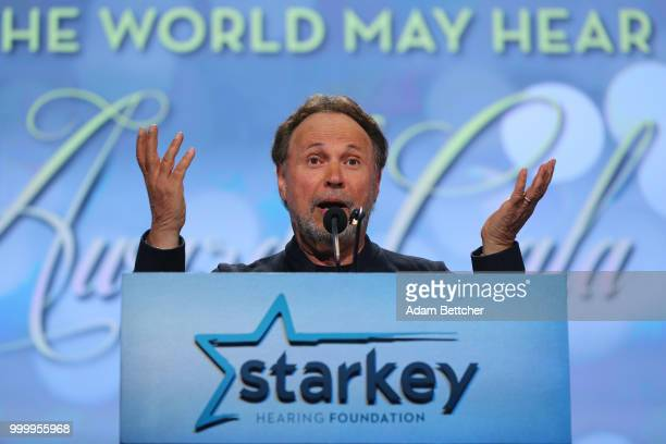 Billy Crystal takes the stage at the 2018 So the World May Hear Awards Gala benefitting Starkey Hearing Foundation at the Saint Paul RiverCentre on...