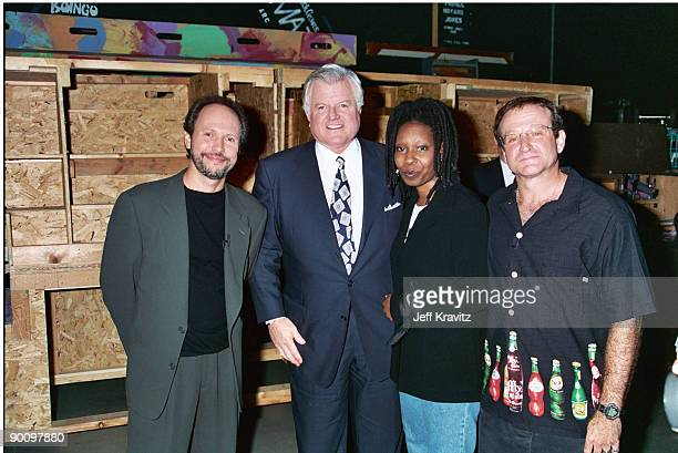Billy Crystal Ted Kennedy Whoopi Goldberg and Robin Williams