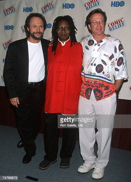 Billy Crystal Whoopi Goldberg and Robin Williams at the Radio City Music Hall in New York City New York