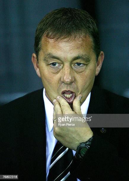 Billy Davies manager of Derby County looks on before during the Barclays Premier League match between Derby County and Newcastle United at Pride Park...