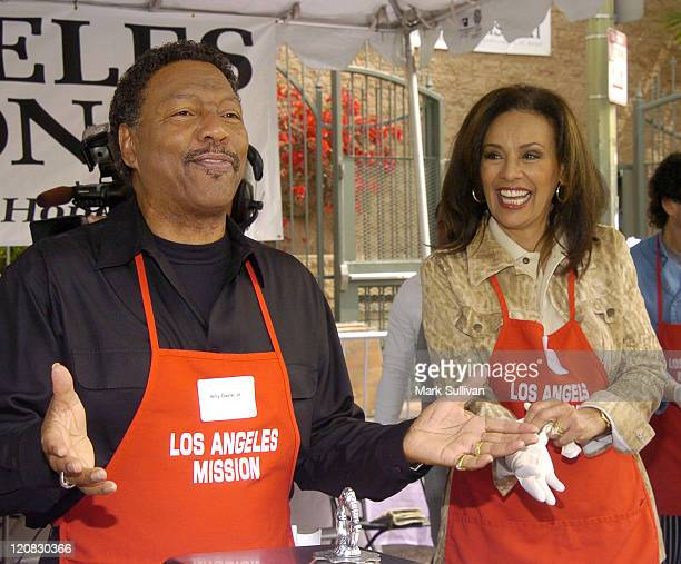 Billy Davis Jr and Marilyn McCoo during Los Angeles Mission 2004 Easter Celebration at Downtown Los Angeles in Los Angeles California United States