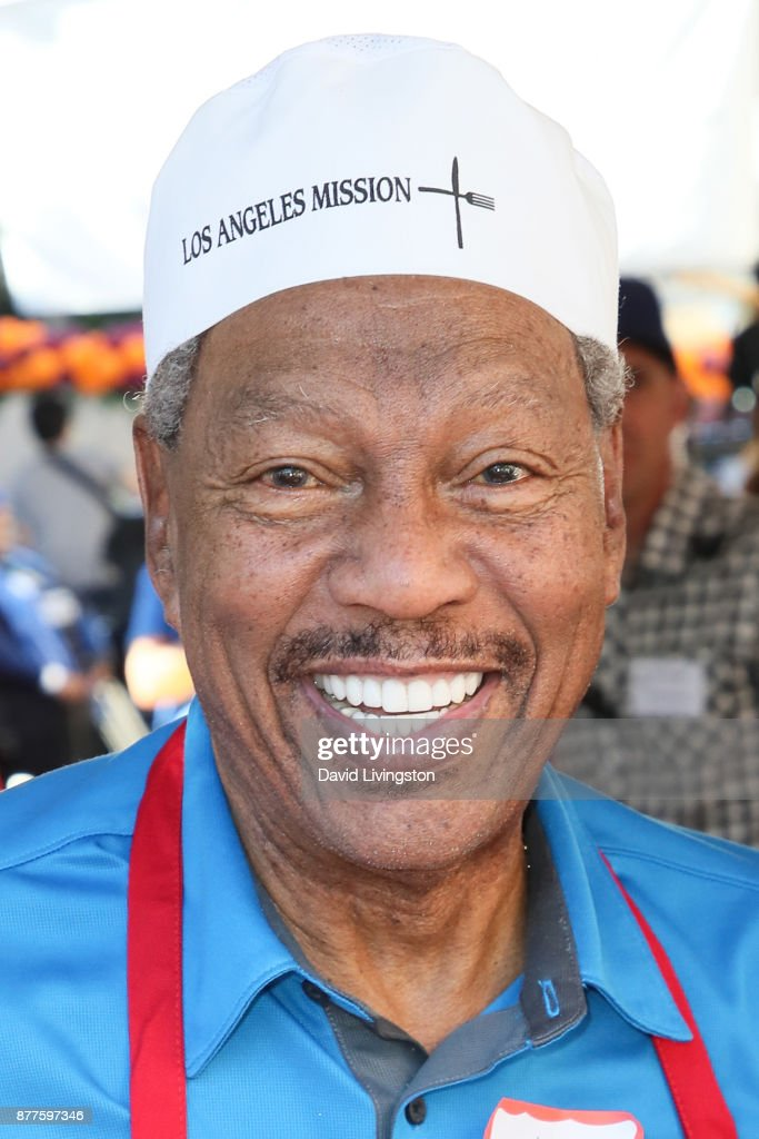 Billy Davis Jr. is seen at the Los Angeles Mission Thanksgiving Meal for the homeless at the Los Angeles Mission on November 22, 2017 in Los Angeles, California.