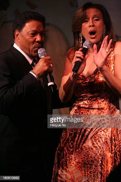 Billy Davis Jr left and Marilyn McCoo performing at Cafe Carlyle on Tuesday night May 13 2008