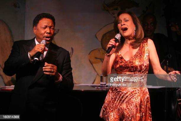 Billy Davis Jr left and Marilyn McCoo performing with the bassist Kevin O'Neal at Cafe Carlyle on Tuesday night May 13 2008