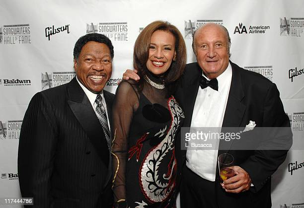 Billy Davis Marilyn McCoo and Don Kirshner during 38th Annual Songwriters Hall of Fame Ceremony Cocktails and Backstage at Marriott Marquis in New...