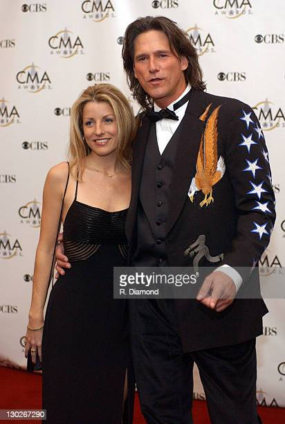 Billy Dean and Stephanie Paisley during 37th Annual CMA Awards Arrivals at The Grand Ole Opry in Nashville TN United States