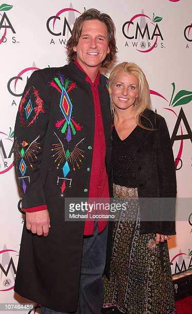 Billy Dean and Stephanie Paisley during The 39th Annual CMA Awards Arrivals at Madison Square Garden in New York City New York United States