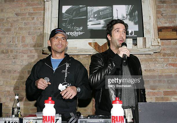 Billy Dec and director and actor David Schwimmer at the Run Fatboy Run Chicago Premiere After Party Presented by Belvedere at Rockit on March 8, 2008...