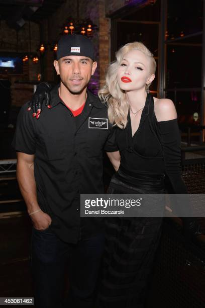 Billy Dec and Ivy Levan attend a Lollapalooza afterparty at Rockit Bar & Grill on August 1, 2014 in Chicago, Illinois.