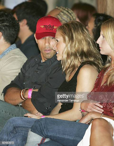 Billy Dec and Jen Schefft make an appearance at Gen Art Fresh Faces In Fashion show at the Surfcomber Hotel on March 18 2005 in Miami Beach Florida