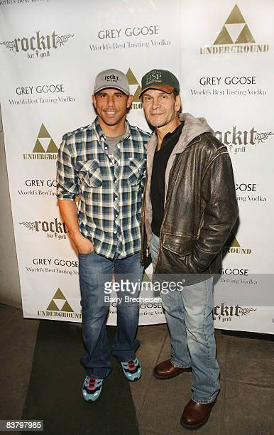 Billy Dec and Patrick Swayze attend The Beast Wrap Party presented by Grey Goose Vodka at The Underground on November 23 2008 in Chicago Illinois