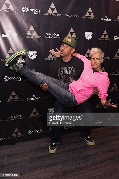 Billy Dec and Samantha Ronson attend the Lollapalooza 2013 after party at The Underground on August 3 2013 in Chicago Illinois