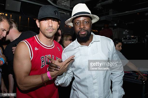 Billy Dec and Wyclef Jean attend the Lollapalooza 2012 after party at The Underground on August 3, 2012 in Chicago, Illinois.