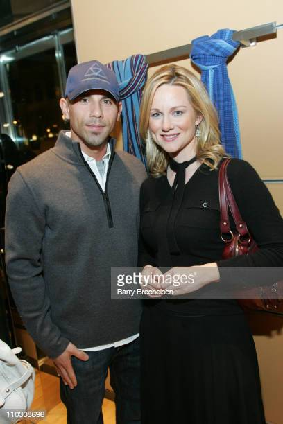 Billy Dec & Laura Linney at TODS 2007 Collection during Laura Linney Hosts TODS 2007 Collection at TODS on 121 East Oak Street in Chicago, Illinois,...