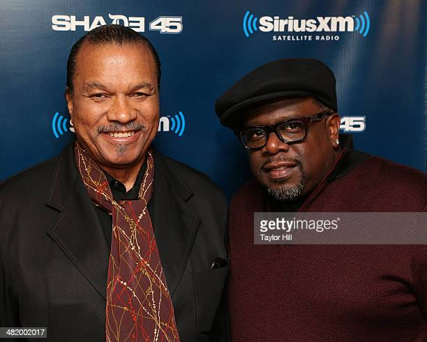 Billy Dee Williams and Cedric the Entertainer visit Sway in the Morning at SiriusXM Studios on April 2 2014 in New York City