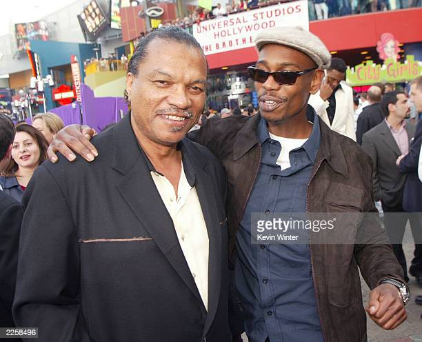 Billy Dee Williams and Dave Chappelle at the premiere of Undercover Brother at the Universal CityWalk in Los Angeles Ca Thursday May 30 2002 Photo by...