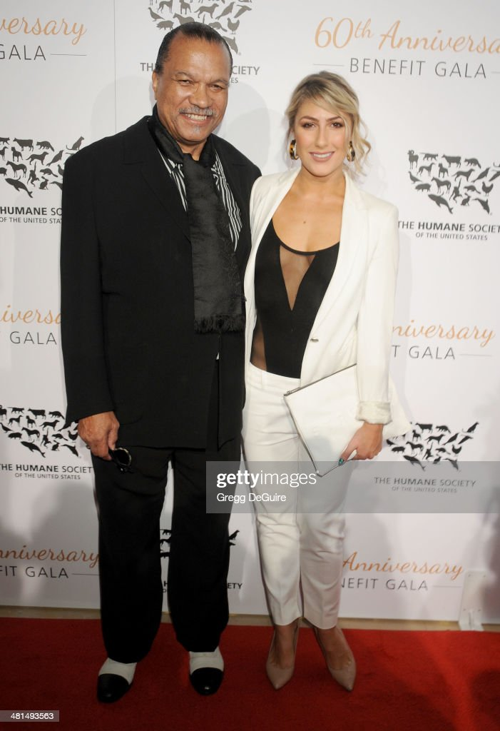 Billy Dee Williams and Emma Slater arrive at The Humane Society Of The United States 60th anniversary benefit gala at The Beverly Hilton Hotel on March 29, 2014 in Beverly Hills, California.