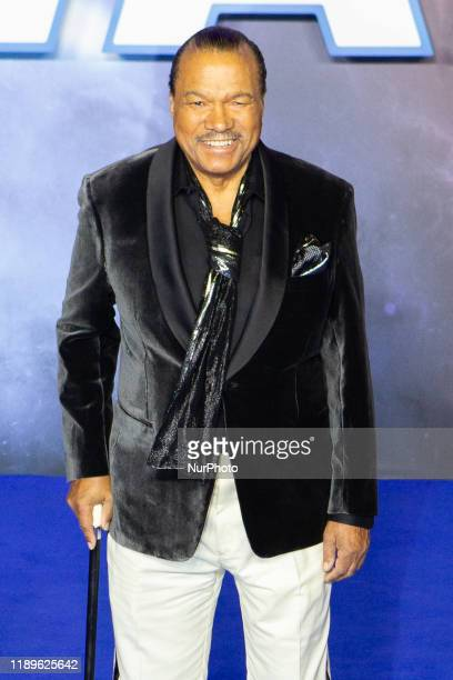 Billy Dee Williams attends ''Star Wars The Rise of Skywalker'' European Premiere at Cineworld Leicester Square on December 18 2019 in London