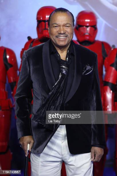 Billy Dee Williams attends Star Wars The Rise of Skywalker European Premiere at Cineworld Leicester Square on December 18 2019 in London England