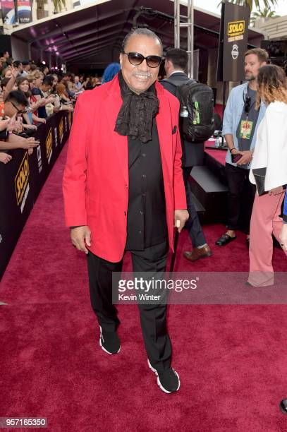 Billy Dee Williams attends the premiere of Disney Pictures and Lucasfilm's Solo A Star Wars Story at the El Capitan Theatre on May 10 2018 in...