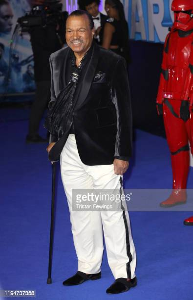 Billy Dee Williams attends the Star Wars The Rise of Skywalker European Premiere at Cineworld Leicester Square on December 18 2019 in London England