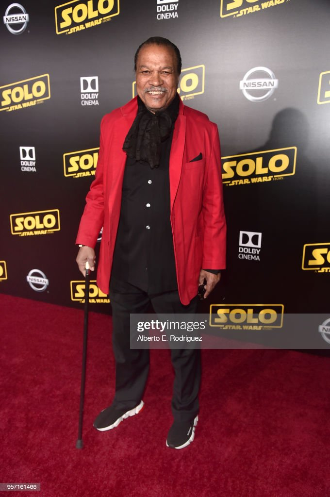 """Billy Dee Williams attends the world premiere of """"Solo: A Star Wars Story"""" in Hollywood on May 10, 2018."""