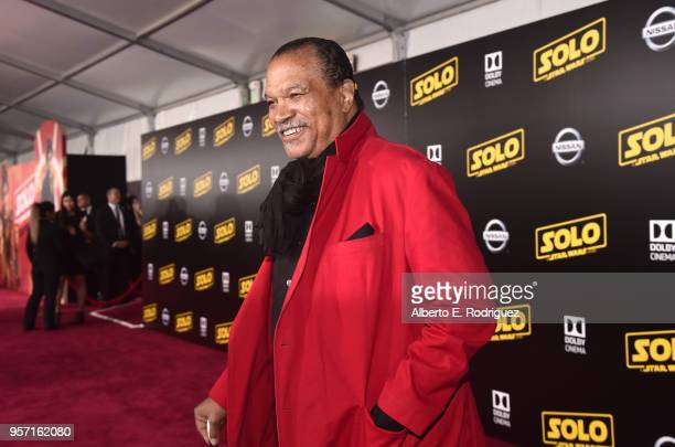 "Billy Dee Williams attends the world premiere of ""Solo A Star Wars Story"" in Hollywood on May 10 2018"