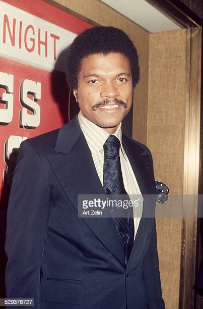 Billy Dee Williams in a suit and tie circa 1970 New York