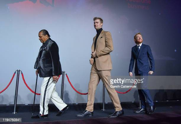 "Billy Dee Williams, Joonas Suotamo and Domhnall Gleeson attend the European premiere of ""Star Wars: The Rise of Skywalker"" at Cineworld Leicester..."