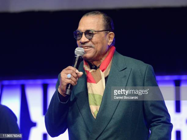 Billy Dee Williams onstage during The Rise of Skywalker panel at the Star Wars Celebration at McCormick Place Convention Center on April 12 2019 in...
