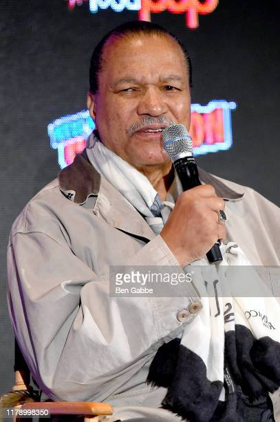 Billy Dee Williams speaks onstage during Hello, What Have We Here?- Spotlight on Billy Dee Willaims at New York Comic Con 2019 - Day 2 at Jacobs...