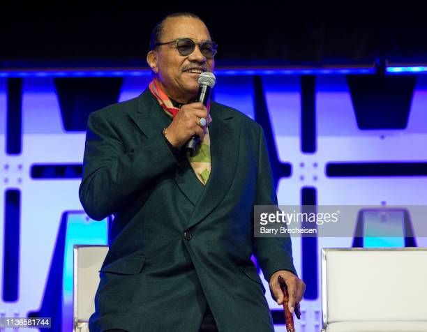 Billy Dee Williams speaks onstage during the Star Wars Celebration at the Wintrust Arena on April 12, 2019 in Chicago, Illinois.