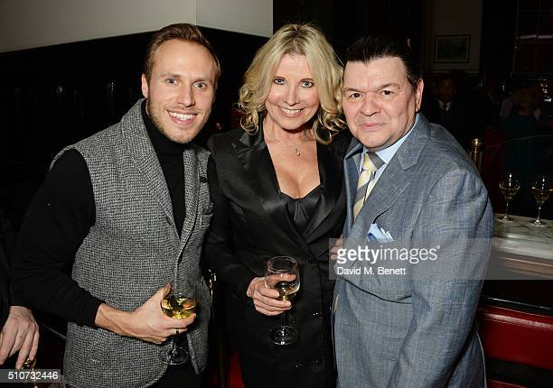 "Billy Dennis, Julie Dennis and Jamie Foreman attend the press night after party for ""Mrs Henderson Presents"" at The National Cafe on February 16,..."