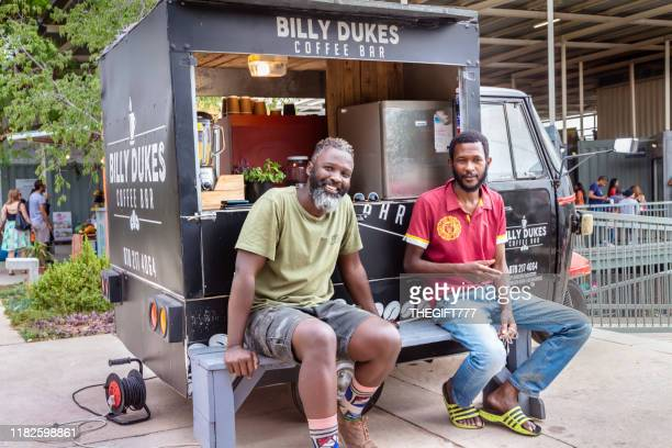 billy dukes coffee shop mobile store in melville, johannesburg - gauteng province stock pictures, royalty-free photos & images