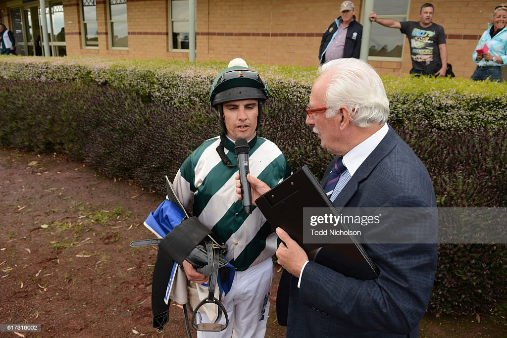 Billy Egan after winning Sinclair Wilson BM64 Handicap at Hamilton Racecourse on October 23, 2016 in Hamilton, Australia.