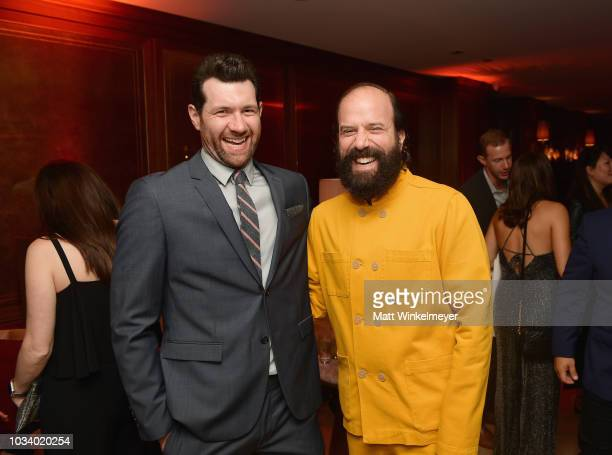 Billy Eichner and Brett Gelman attend the 2018 PreEmmy Party hosted by Entertainment Weekly and L'Oreal Paris at Sunset Tower on September 15 2018 in...