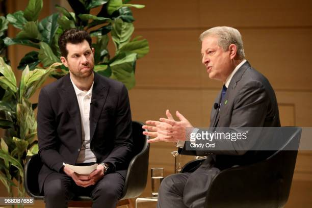 Billy Eichner and Former Vice President of the United States Al Gore speak onstage during Teen Vogue Summit 2018: #TurnUp - Day 2 at The New School...