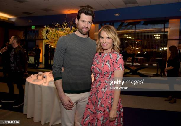 Billy Eichner and Leslie Grossman attend the American Horror Story Cult For Your Consideration Event at The WGA Theater on April 6 2018 in Beverly...