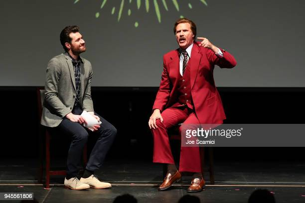 Billy Eichner and Ron Burgundy 'Glam Up The Midterms' at Oceanside High School Performing Arts Center a conversation about the upcoming primary in...