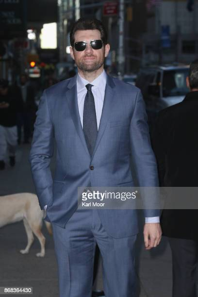 Billy Eichner arrives for his appearance on 'The Late Show With Stephen Colbert' at Ed Sullivan Theater on October 30 2017 in New York City