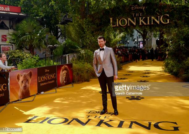 """Billy Eichner attends the European Premiere of Disney's """"The Lion King"""" at Odeon Luxe Leicester Square on July 14, 2019 in London, England."""