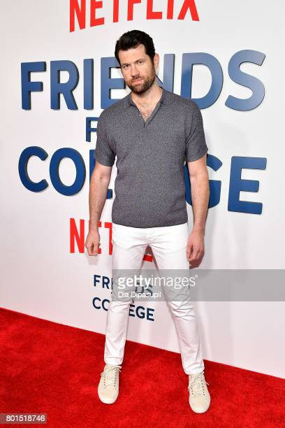 Billy Eichner attends the Friends From College New York premiere at AMC 34th Street on June 26 2017 in New York City