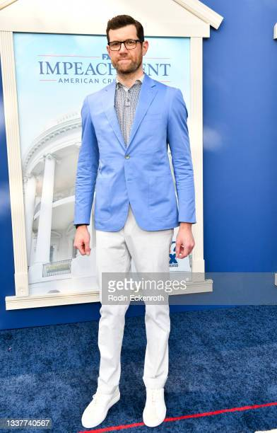 """Billy Eichner attends the premiere of FX's """"Impeachment: American Crime Story"""" at Pacific Design Center on September 01, 2021 in West Hollywood,..."""
