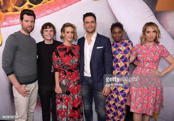 Billy Eichner Evan Peters Sarah Paulson Cheyenne Jackson Adina Porter and Leslie Grossman attend the American Horror Story Cult For Your...