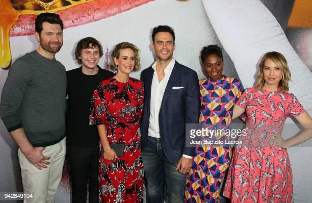 Billy Eichner Evan Peters Sarah Paulson Cheyenne Jackson Adina Porter and Leslie Grossman attend 'American Horror Story Cult' For Your Consideration...