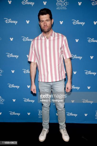 Billy Eichner of 'Noelle' took part today in the Disney Showcase at Disney's D23 EXPO 2019 in Anaheim Calif 'Noelle' will stream exclusively on...