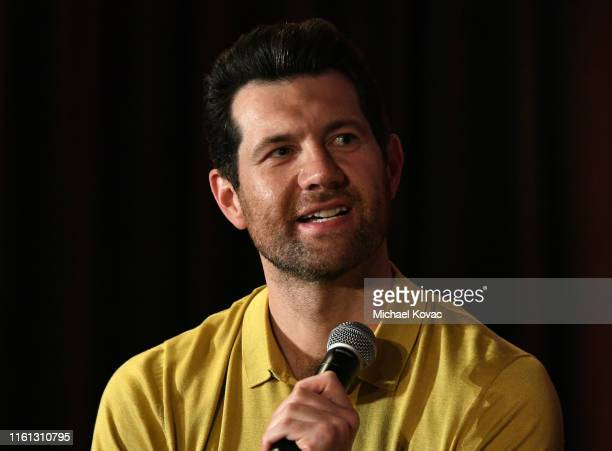 Billy Eichner speaks onstage at Twitter's fan premiere of Disney's #TheLionKing at Hollywood Highland Centre on July 10 2019 in Hollywood California