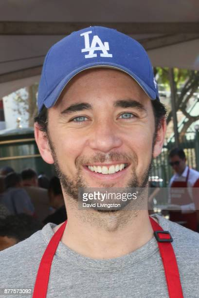 Billy Flynn is seen at the Los Angeles Mission Thanksgiving Meal for the homeless at the Los Angeles Mission on November 22 2017 in Los Angeles...